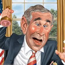 Resultado de imagen para g bush, caricatura