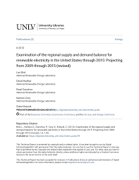 Examination of the regional supply and demand balance for renewable  electricity in the United States through 2015: Projecting fr