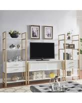 contemporary home office furniture tv. Shiloh Contemporary White And Gold Entertainment Center By INSPIRE Q Bold (Bookcase) Home Office Furniture Tv I