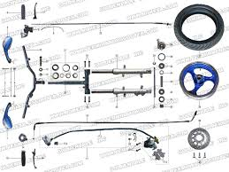 roketa mc steering assembly parts