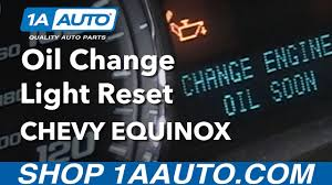 How to Reset Oil Change Reminder Light 2008 Chevy Equinox - YouTube