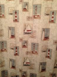 lighthouse shower curtain guest bathroom