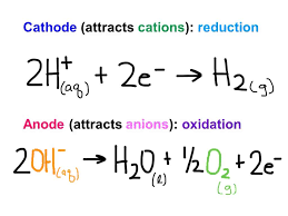 electrolysis of salt water half equations tessshlo