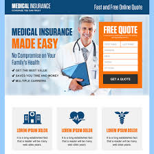 health insurance website design professional cal insurance free quote landing page design