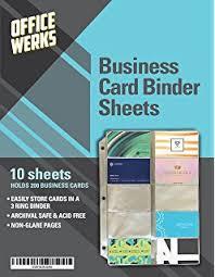 Business Card Holder Binder Inserts Best Of Amazon Tyh Supplies