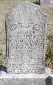 BREWER, IDA - Baxter County, Arkansas   IDA BREWER - Arkansas Gravestone  Photos