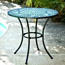 round metal mesh patio table outdoor furniture inch bistro with steel dining