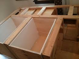 image of diy bed frame with storage ideas