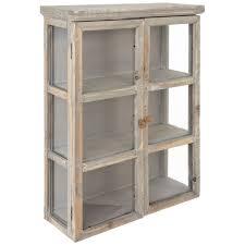 whitewash wood wall cabinet hobby