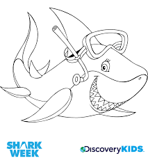 Small Picture Snorkel Shark Coloring Page Discovery Kids