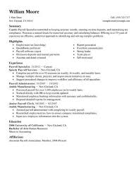 Payroll Resume Template Best of Payroll Resume Template Fastlunchrockco
