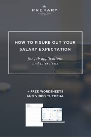 How To Figure Out Your Salary Expectations Career Job Search