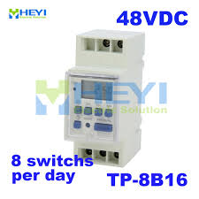 Din Rail Light Us 7 36 Street Light Timer Jf 15b Tp 8b16 Dc 48v Din Rail Weekly Programmable Remote Microcomputer Control Switch In Relays From Home Improvement