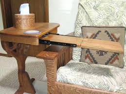 side table over arm under chair tray tables that slide