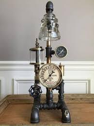 30 steam punk glass insulator lamp