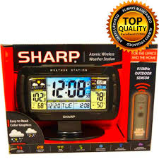 sharp weather station. station weather wireless meters atomic clock new alarm black home free shipping sharp e