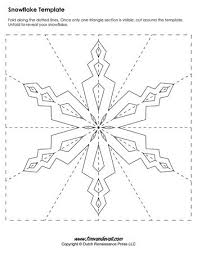 Blank Snowflake Template Paper Snowflake Templates For Christmas Holiday Crafts