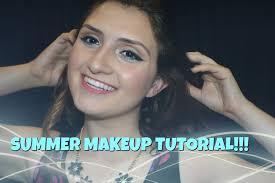 summer makeup tutorial 2016 blue eyeliner and c lips beauty teacher