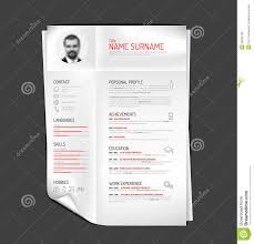 Original Resume Template Original Cv Resume Template Stock Vector Illustration Of 49