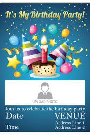 Invites Birthday Party Birthday Invitation Cards Personalized Birthday Invitation Card