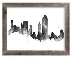 new york city skyline art print by kelsey mcnatt in beautiful frame options