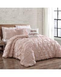 blush bedding queen. Plain Queen Brooklyn Loom Jackson Pleat Fullqueen Comforter Set In Blush On Bedding Queen Better Homes And Gardens