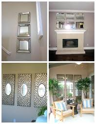 how to hang a round mirror on the wall multi mirror wall decor impressive ideas how