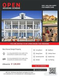 Free House Flyer Template Free Open House Flyer Template Arianet Co