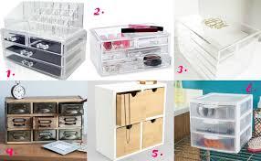 NILECORP Acrylic Cosmetic Storage - $19.59 2. Clear 4-Drawer Cosmetic  Organizer - $14.99 3. Personalized Monogrammed Acrylic Makeup Organizer -  $59.95