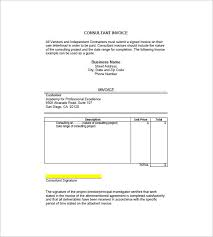 Consulting Agreement Sample In Word Delectable Consultant Invoice Example Trisamoorddinerco