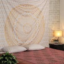 hanging sheet exclusive living room indian mandala tapestry wall hanging bed sheet