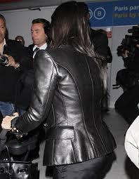 fabulous paris kim kardashian leather women s jacket