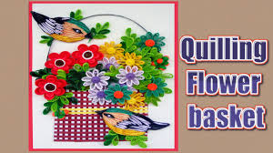 Paper Quilling Flower Baskets Paper Quilling Making Quilling Flower Bouquet Step By Step Paper
