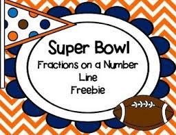 Fractions On A Number Line Worksheet Super Teacher - super teacher ...freebie! fractions on a number line task cards super bowl themed
