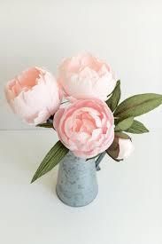 Peony Paper Flower Blush Peonies Paper Rose Co