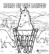 Save The Wild Horses Coloring Page