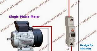 single pole circuit breaker wiring diagram single how to wire a switched single phase motor using circuit breaker on single pole circuit breaker