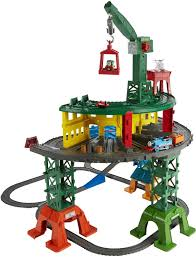 723834612859 fisher thomas friends super station playset train set wooden engines