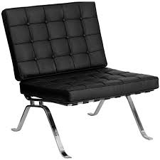 armless leather chairs. Black Leather Barcelona Armless Chair Lounge Furniture Chairs