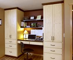 office wet bar. Stained Home Office Cabinets In Vintage Soft Yellow By Showplace Cabinetry Wet Bar M