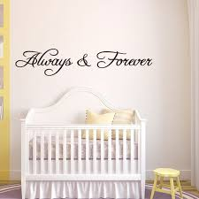 always and forever letter removable wall decal black