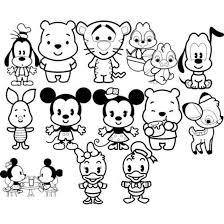 Kawaii Disney Coloring Pages