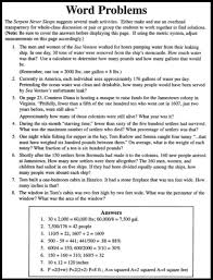 8th grade math word problems worksheets with answers