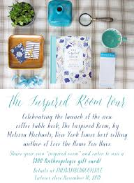 the inspired room tour celebrating the launch of the new coffee table book the inspired room by new york times best ing author of love the home