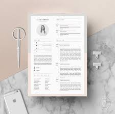 Etsy Resume Template Classy Modern Resume Template Cover Letter Icon Set For Microsoft Etsy
