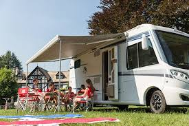 fiamma f70 400cm wind out motorhome awning silver case grey canopy
