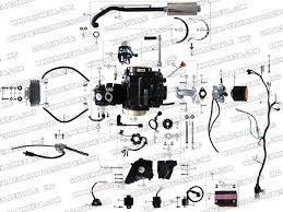 roketa atv engine wiring and exhaust parts