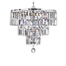 searchlight prism crystal 5 light chandelier