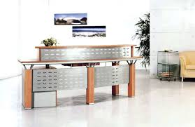 Exciting Solid Wood Office Reception Desk Elegant Office Front