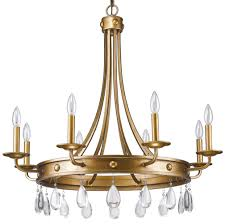 krista antique gold crystal chandelier